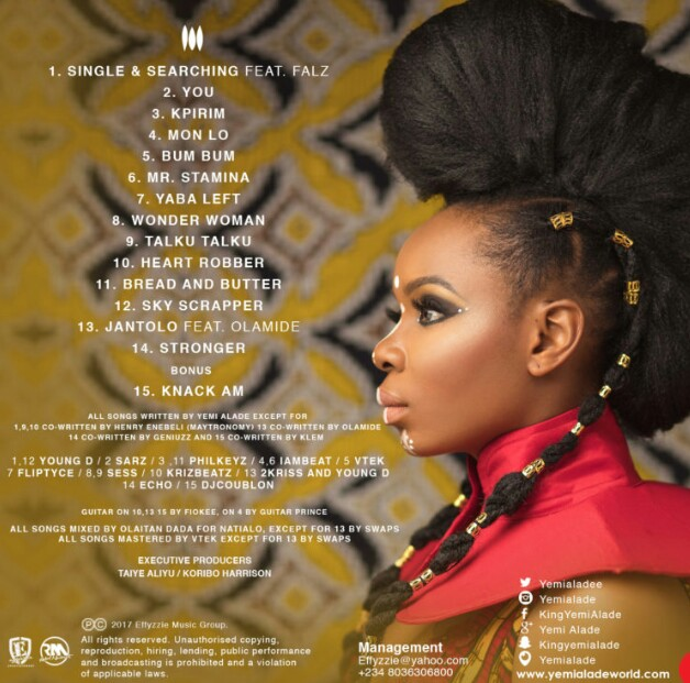 Yemi Alade – Black Magic Full Album tracklist